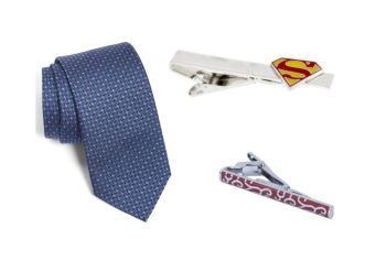 View our tie clip and tie options