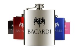 Alcohol brand hip flasks