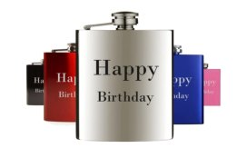 Birthday gift hip flasks