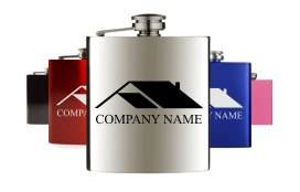 Hip flasks with branding and logo's