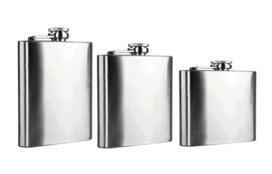 Classic style hip flasks