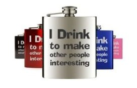 Funny hip flasks