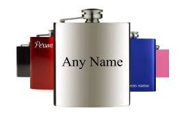 Personalised hip flasks with names