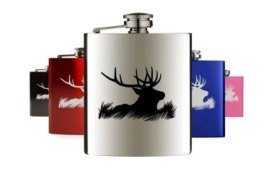 Hunting and fishing hip flasks